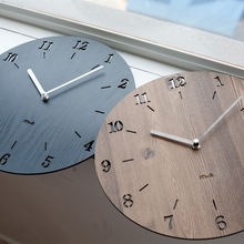 12 inches artistic silent retro clock european style round vintage rustic wooden home wall clock home