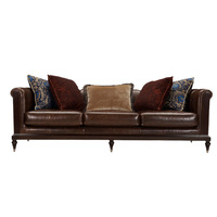 Contemporary 3 Seater Leather Modern Sofa Design ,Mid century modern designer leather sofa