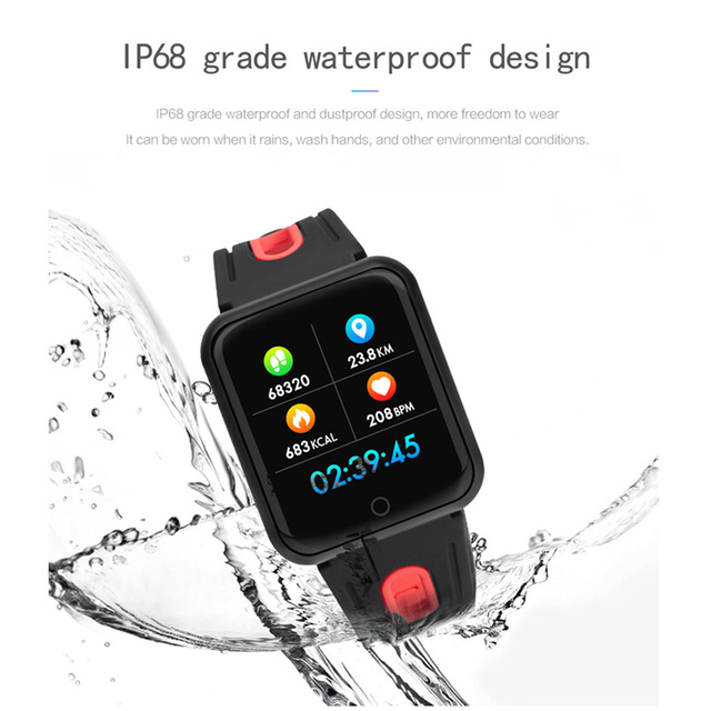 fitness bracelet watch P68 ip68 waterproof  for apple watch xiaomi  ios  Android with heart rate monitor smart band +earphone 4
