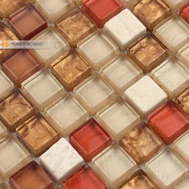 Glas Gemischte Stein Wand Und Bodenfliesen 12x12 Bad Fliesen Kuche