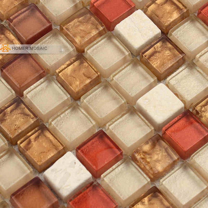 Schon Glass Mixed Stone Wall And Floor Tile 12x12 Bathroom Tiles Kitchen  Backsplash Mosaic Tile Free Shipping In Wall Stickers From Home U0026 Garden On  ...