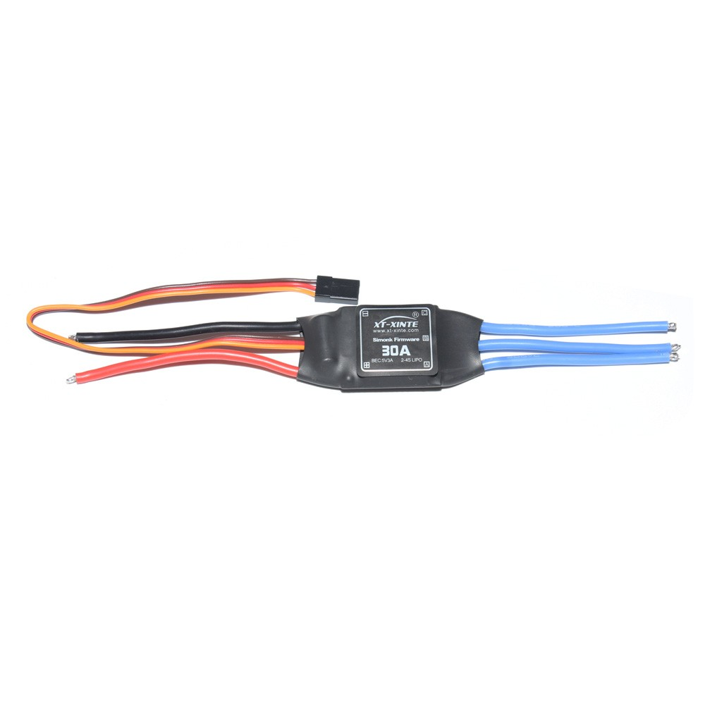 JMT Simonk Firmware 30A ESC Electric Speed Controller with 5V 3A BEC for 2 to 4s Lipo Battery F18203 30a esc welding plug brushless electric speed control 4v 16v voltage