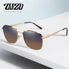 20/20 marka klasyczne kwadratowe spolaryzowane okulary mężczyźni kobiety jazdy metalowa rama okulary męskie gogle UV400 Gafas De Sol 17076