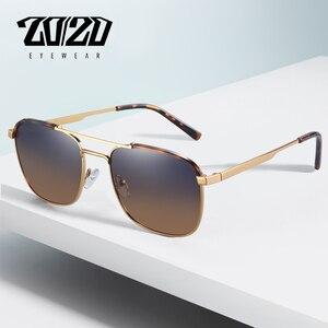 Image 1 - 20/20 מותג קלאסי כיכר מקוטב משקפי שמש גברים נשים נהיגה מתכת מסגרת משקפיים שמש זכר משקפי UV400 Gafas דה סול 17076