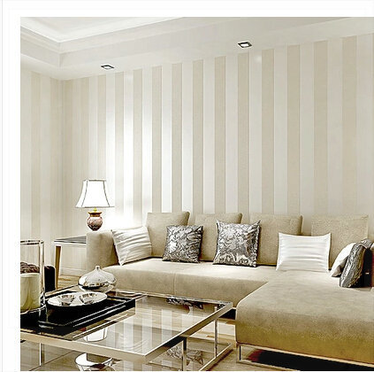 wall paper for living room colour schemes brown sofa striped wallpaper roll modern vertical stripe bedroom tv background home decor beige creamy white 3d in wallpapers from