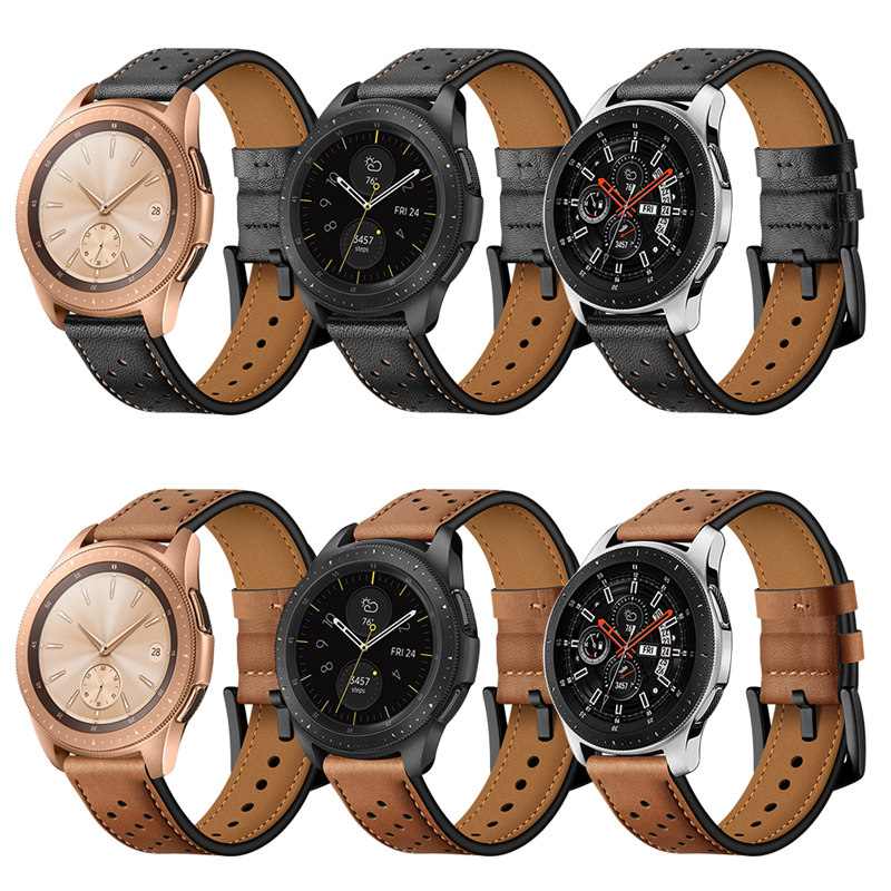 20mm 22mm Quick Release Leather Watchbands For Samsung Galaxy Gear S3 Band Watch 46mm 42mm Active 2 44mm 44m S2 Classic Strap