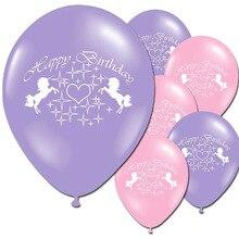 10 шт новые золотые воздушные шары Единорог вечерние латексные шары Детские Мультяшные животные лошадь Плавающий глобус День рождения украшения