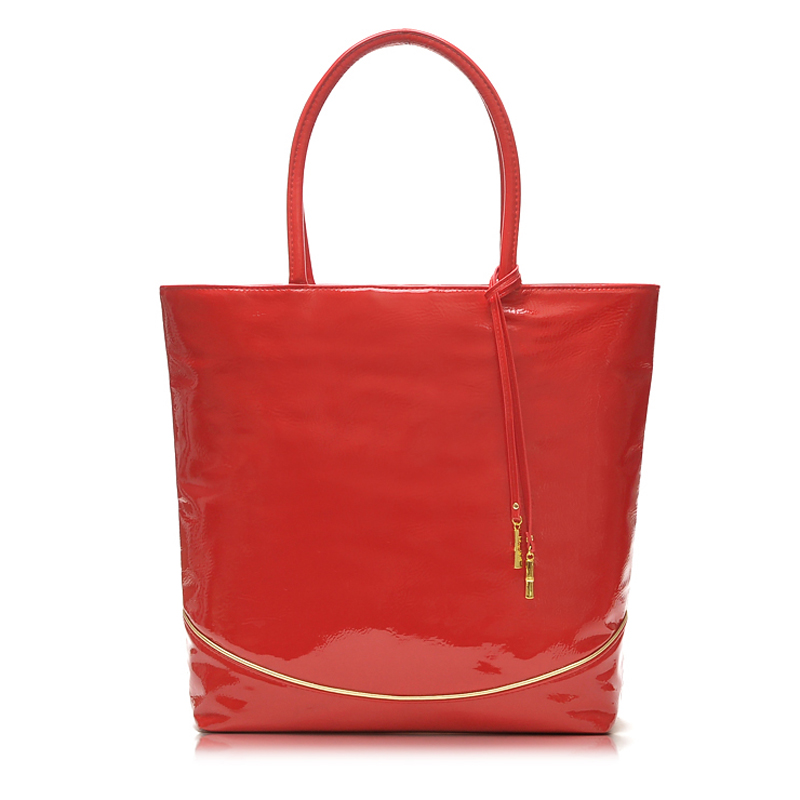 2017 New Cheapest Women Handbag SWEET CANDY Red Patent Leather TOTE BAG SHOPPER Handbag