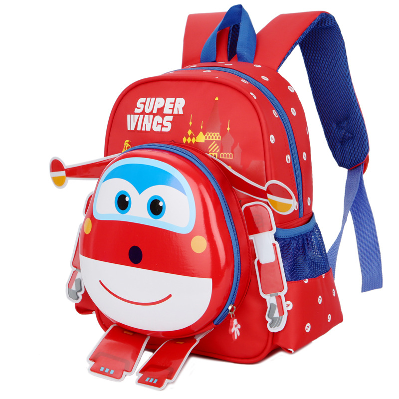 New Robot Body Backpack Kids Cartoon School Bag Backpack Children Orthopedic Super Wings Schoolbag For Boys And Girls Primary #2