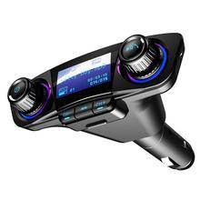 Автомобильный fm-передатчик, беспроводной Bluetooth, громкая связь, автомобильный комплект, Aux модулятор, прикуриватель, светодиодный MP3 плеер, TF, двойное USB зарядное устройство, 2.1A