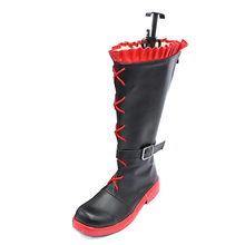 brdwn RWBY Womens Ruby Rose Cosplay Boots Custom Made Flat heel shoes