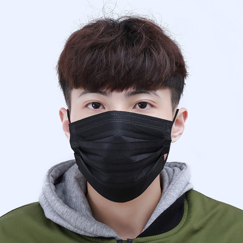 Men's Masks Apparel Accessories Well-Educated 10pcs/pack Black Non Woven Disposable Face Masks Tools Medical Earloop Activated Carbon Anti-dust Surgical Various Occasions
