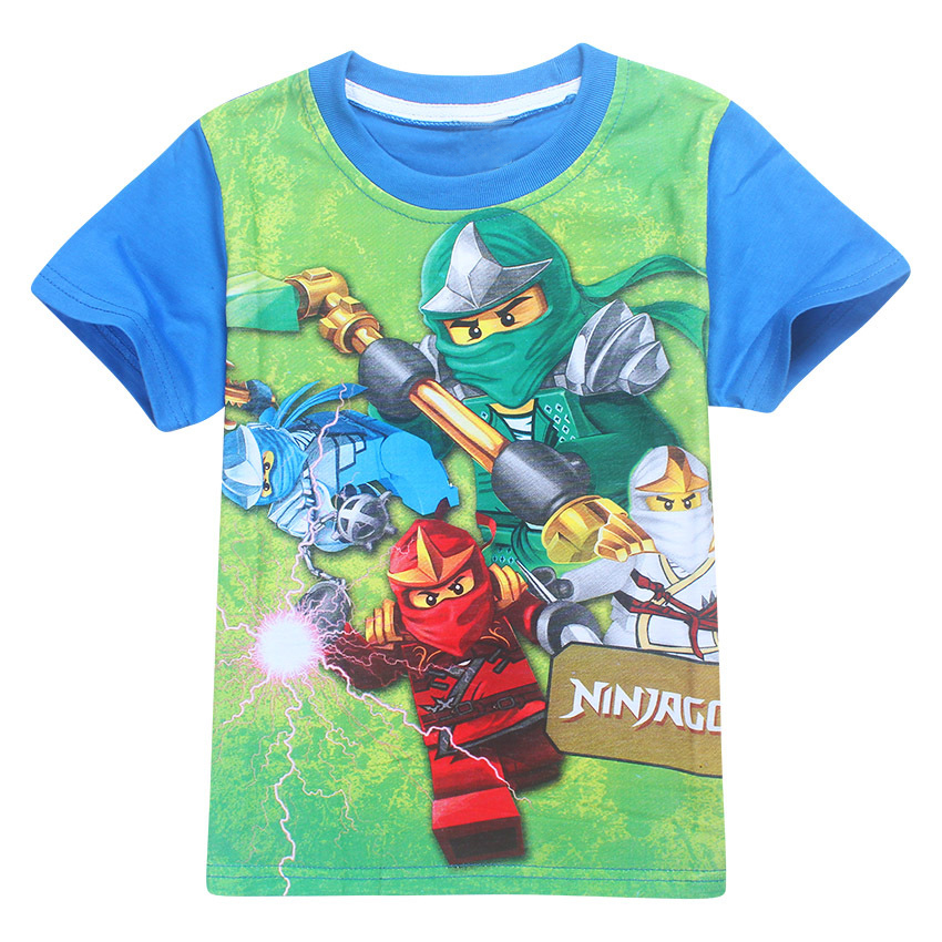 Boys Girls NINJAGO Cartoon Short Sleeve T-shirt Tops Kids Casual Summer Costumes