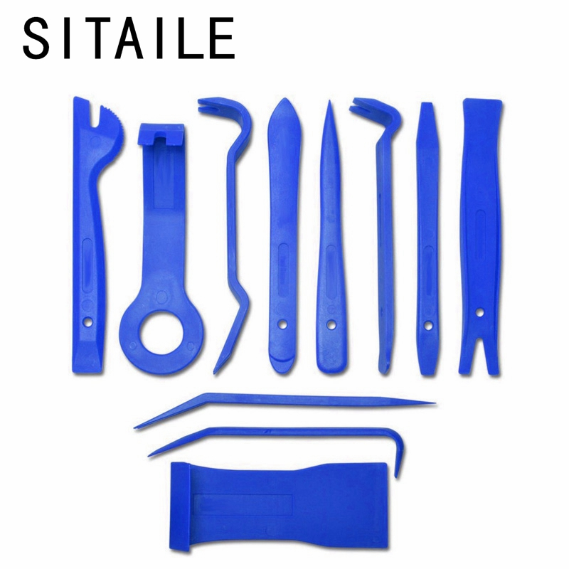 SITAILE 11pcs Auto Trim Removal Pry Open Tool Diagnostic-tool Kit For Car Dash Radio Door Trim Panel Clip Panel Clip Car Styling