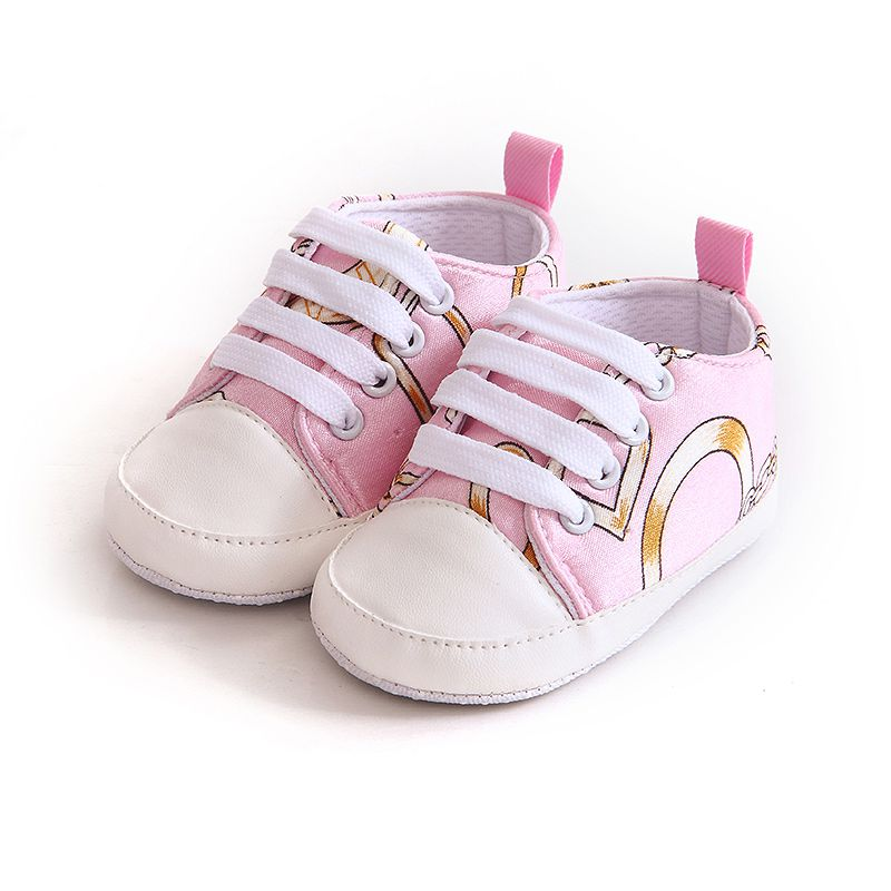 Fresh Chain Printed baby soft soled shoes Baby Boy Girl Kid Soft Sole Shoes Sneaker Newborn Casual Bottom Toddler shoes j2
