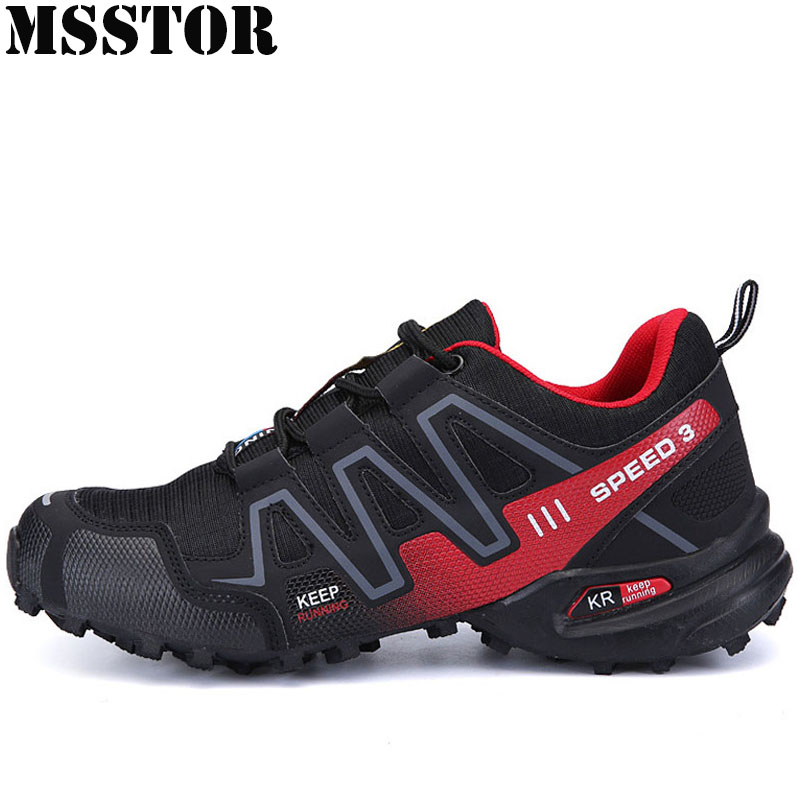 MSSTOR Men Hiking Shoes Man Brand Outdoor Athletic Hunting Trekking Climbing Sport Shoes For Men Breathable Walking Men Sneakers