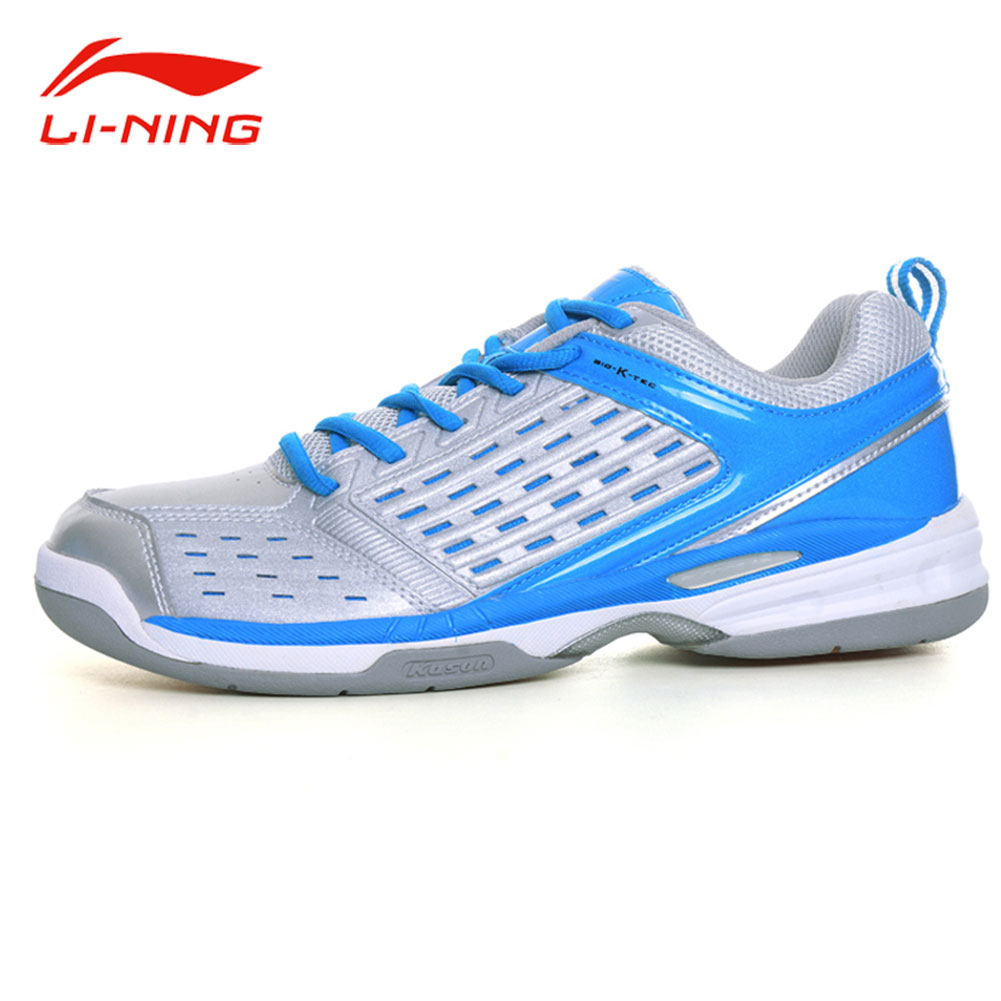 Li-Ning KASON Men Professional Stablity Badminton Shoes Breathable Sneakers LiNing Blue Cushioning Training Sports Shoes FYZH031 peak sport men outdoor bas basketball shoes medium cut breathable comfortable revolve tech sneakers athletic training boots