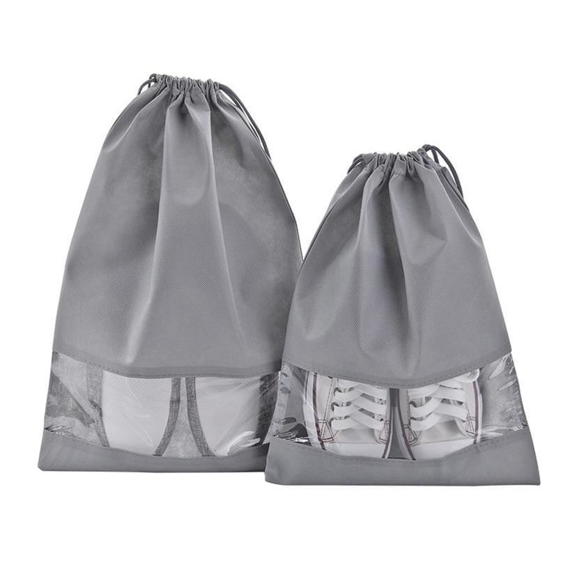 1pcs Shoe Bag Multi Purpose Travel Laundry Storage Pouch Zipper Storage Bags Organizer transparent Home Storage #3j17 (4)