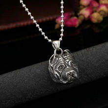 Stainless Steel Pitbull  Pendant Necklace, Free Shipping