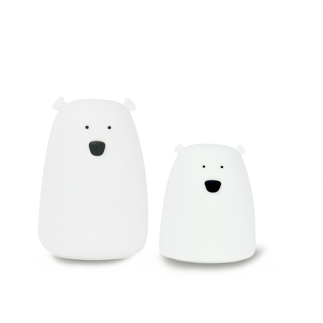 Control remoto de silicona LED lámpara de noche oso Color luz niños bonito lámpara de noche dormitorio chico luz regalo juguete