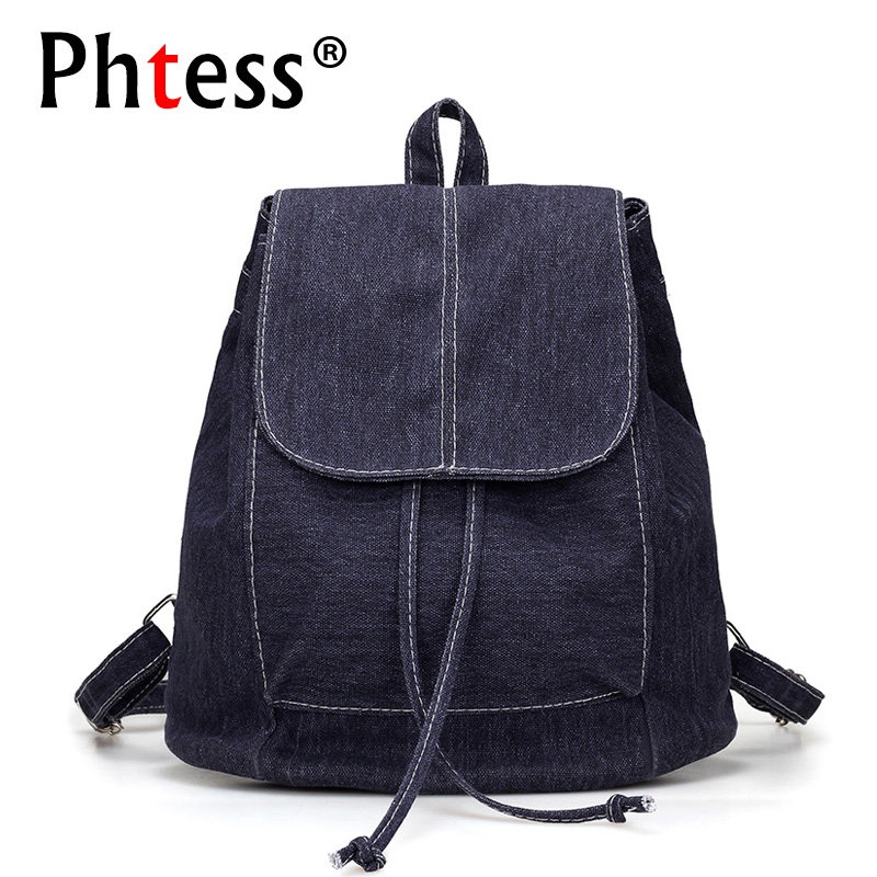 Drawstring Backpack Women School Bags For Teenage Girls Canvas Backpacks 2017 Sac a Dos Femme Mochilas Female Bagpack For Girls