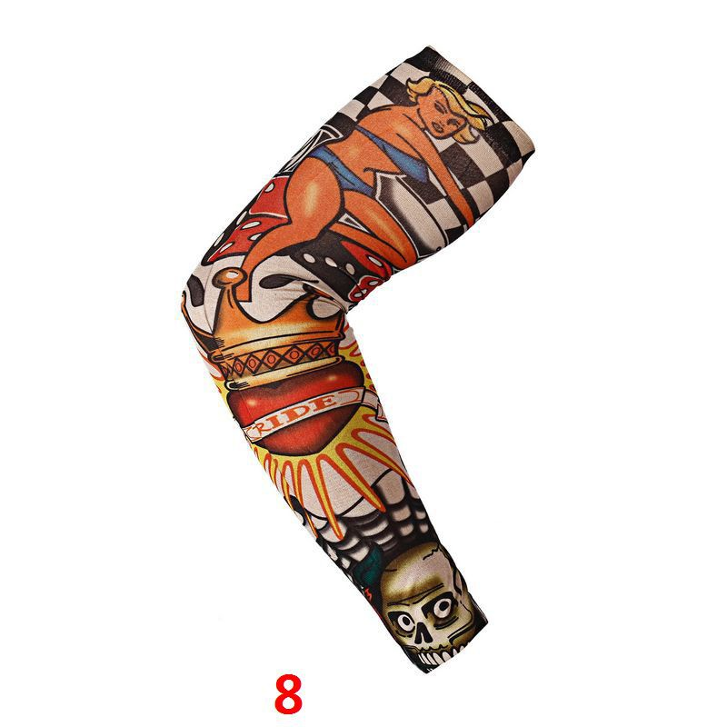 Quick Dry Tattoo Sleeve Sunscreen Cycling Running Comfortable Cool Long Arm Warmers Art Tatto Designs Nylon Elastic Temporary Pakistan