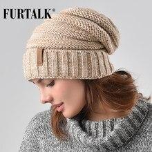 17a5f546d7d43f FURTALK Winter Knitted Women Hat Slouchy Beanie for Girls Skullies Cap  A047(China)