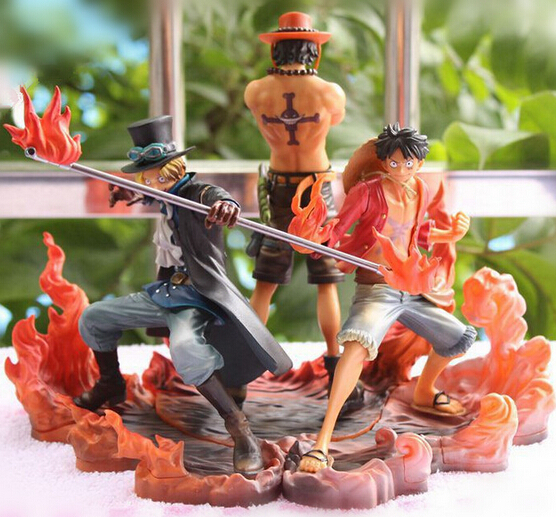 Anime One Piece 15cm 3pcs/set  Luffy & Ace & Sabo 3 brother Action Figure Toys Dolls
