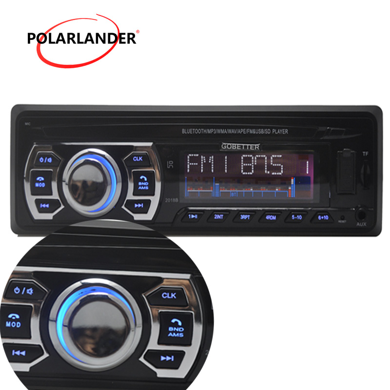 2016 newest Car Radio bluetooth MP3 FM/USB one din in dash USB port 12V Car Audio bluetooth handfree car radios blueooth aux in