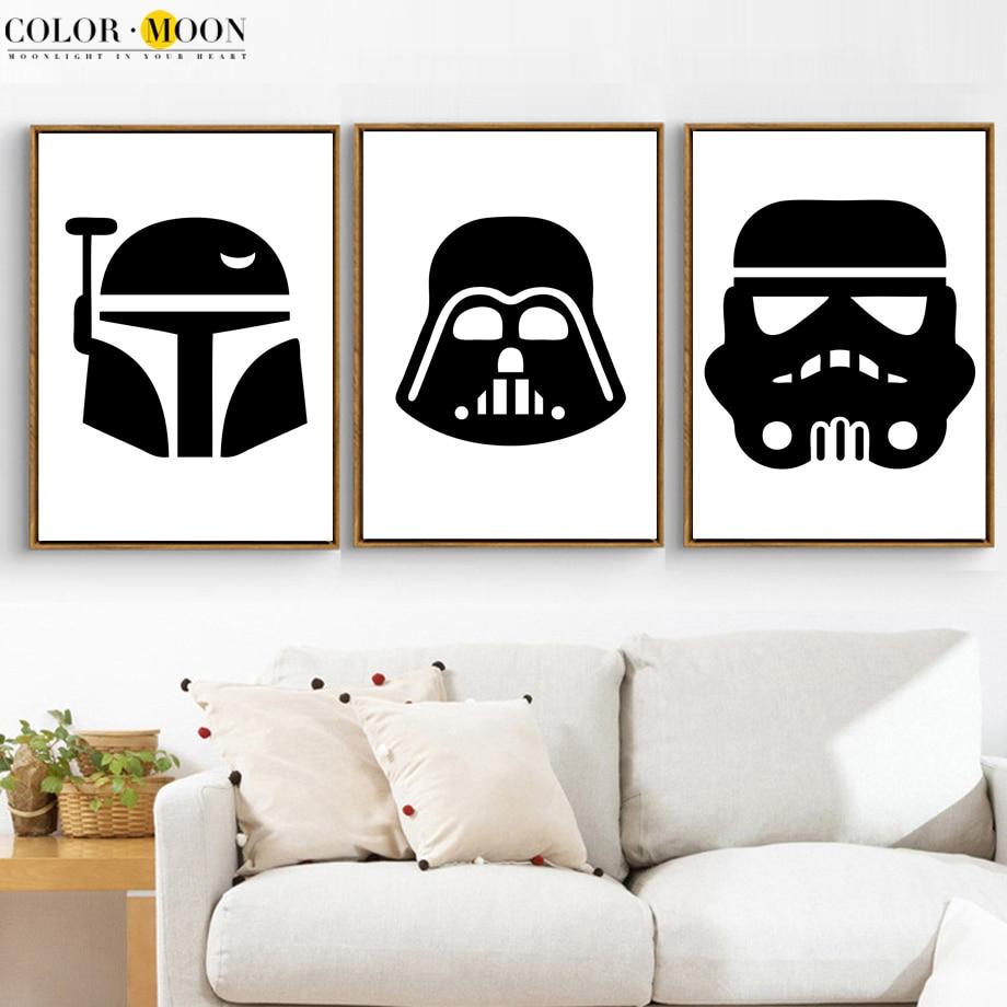 COLORMOON Star Wars Wall Art Print Canvas Schilderij Nordic Poster - Huisdecoratie