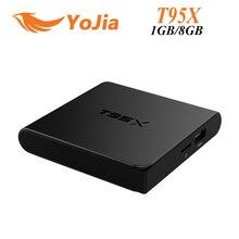 [Original] T95X 2G/8G 2G/16G Amlogic S905X Android 6.0 Quad CoreTV caja de 100 M KODI H.265 DLNA Airplay Reproductor Multimedia