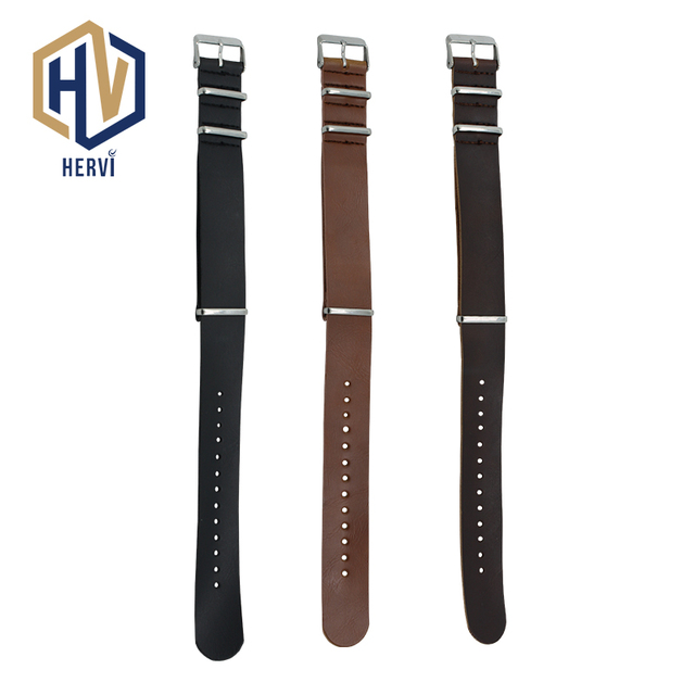 2018 Top Brand Dropshipping 22mm Men Cow Leather Sport Watch Band Casual Women F