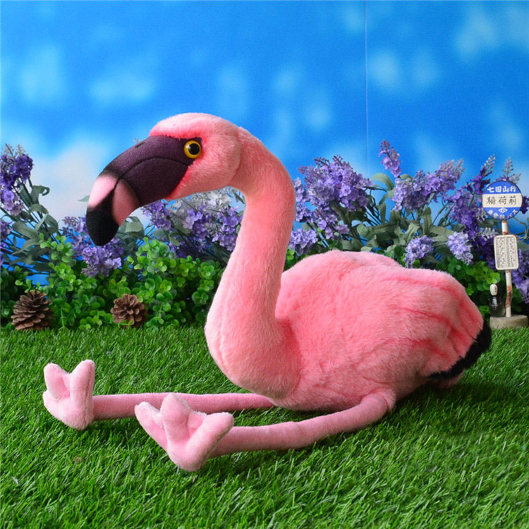 25CM Simulation American Flamingo Stuffed Toy Dolls Caribbean Flamingo Plush Toys Simulation Animal Plush Toys Free Shipping flamingo swan lovely golden crown swan flamingo wall art 3d girl pink goose swan doll stuffed toy animal dolls kids toys