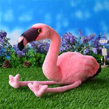 25CM Simulation American Flamingo Stuffed Toy Dolls Caribbean Flamingo Plush Toys Simulation Animal Plush Toys Free Shipping(China)