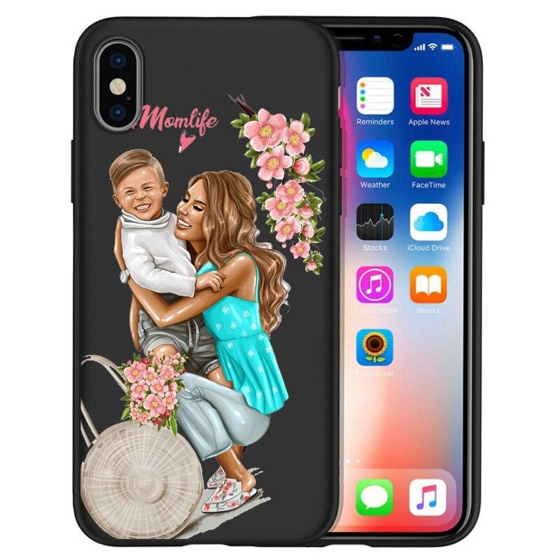 Чехол для iPhone X, модный, супер мама, девочка, для Iphone 5, 5S, 6, 6 S, 7, 8 Plus, X, XS, Max, XR, мягкий силиконовый чехол, Etui - Цвет: 14