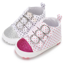 0-1 year old baby girl shoe soft sole canvas fashionable baby shoes  L173