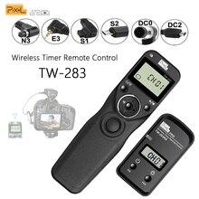 Pixel TW-283 Беспроводной Таймер Пульт дистанционного управления спуска затвора(DC0 DC2 N3 E3 S1 S2) кабель для Canon Nikon sony камера TW283 VS RC-6