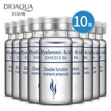 BIOAQUA cristalina del 10 unids/set ácido hialurónico suero hidratante vitaminas E Facial hidratante Anti arrugas Envejecimiento de colágeno día Cr