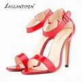 LOSLANDIFEN Лето Открытым Носком Лодыжки Ремни Насосы Женская Обувь На Высоких Каблуках Насосы Для Женщин 102-3 PA