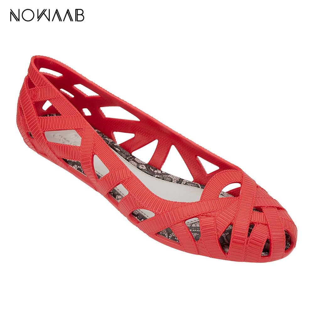 ميليسا كامبانا Fitas 2019 المرأة صندل مسطح تنفس السيدات ميليسا أحذية للنساء صنادل هلامي الإناث هلام الأحذية