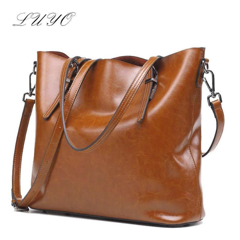 Genuine Leather Handbags Black Woman Bags 2016 Fashion Messenger Big Totes Luxury Women Designer Shoulder Famous Brand Solid