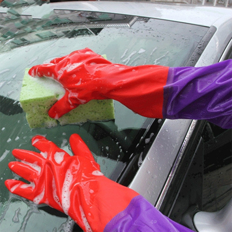 2017 Car Accessories Clean Tool Car Wash Latex Gloves Plus Velvet Double