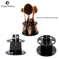 Happy Makeup 5 Holes Pro Makeup Brushes Tools Drying Stand Holder Tree Organizer Table Sets Kits