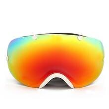 Двойной Анти-туман лыжные очки большие сферические линзы УФ-защитным esqui и зимних видов спорта Мотокросс сноуборд лыжные очки SE3503