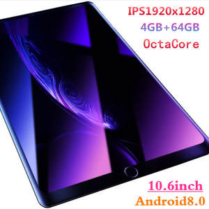 10.6 inch pc tablet 1920x1280IPS MT8752 8 Core Android 8.0 Tablets 4GB RAM 64GB ROM Dual SIM 3G 4GLTE Phone Call Tablet 10.1