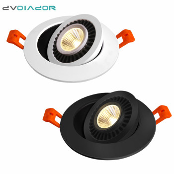 Dimmable LED Downlight 360 Degree Rotating Spot Light 5w 7w 10w 12w ceiling recessed Lights Led Bulb Kitchen LED Spot Lighting dimmable led downlight spot lights ceiling backdrop ceiling down lamp include driver 10w 2 10w white shell black shell