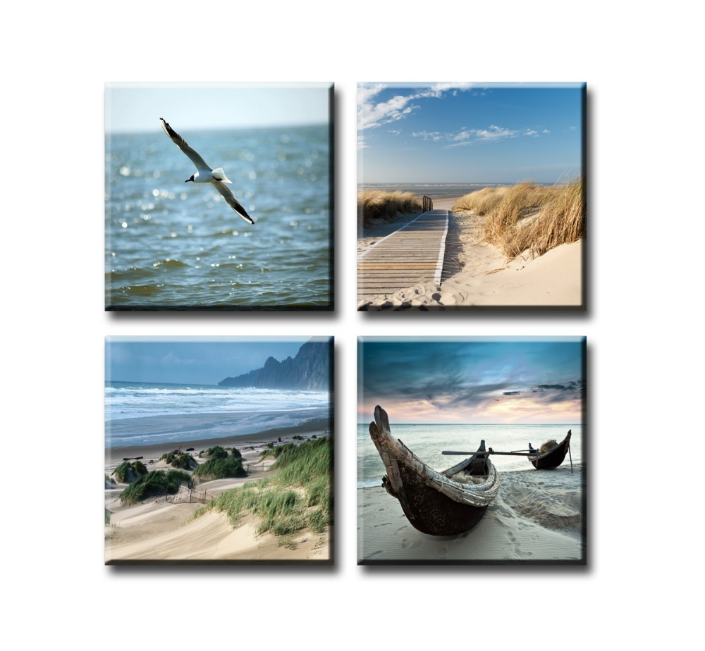 aliexpress : buy canvas print painting artwork, blue beach