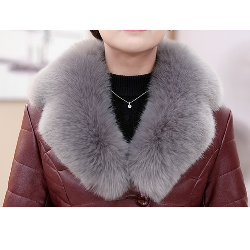 Cuir Red Single Veste Paragraphe Court brown Col 767 Yagenz Femmes Mode Hiver Manteau breasted Pink Coton black De Fourrure Top 5xl gary Taille Wine Grande En leather Qualité BqfY6