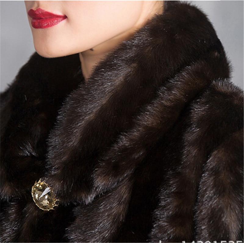 40 100 Vêtements De longues Coffee Femmes X Ans Manteau Imité Fourrure Bn055 Vison D'hiver Grands Color Qualité Chantiers Haute wOqwRB