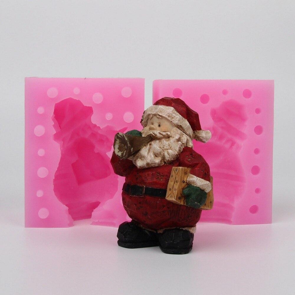 WC011 Silicone moule 3D De Noël Santa Claus ameublement article diy Résine argile plâtre décoration artisanat moule fondant gâteau outil